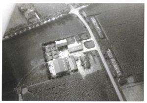 1970 ca Schipstaarten luchtfoto